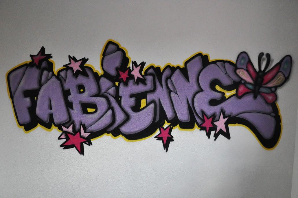 kinderkamer graffiti Fabienne