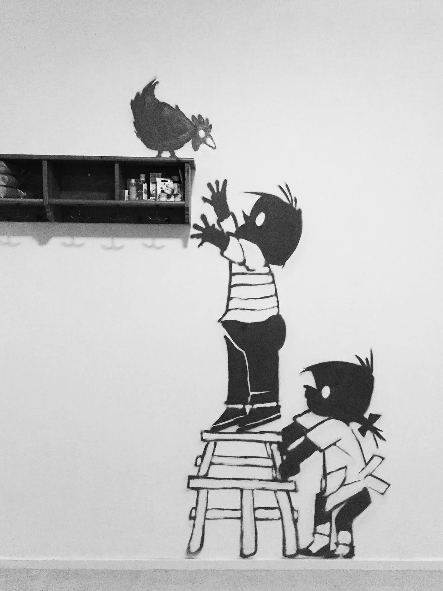 Jip en Janneke kinderkamer graffiti putten