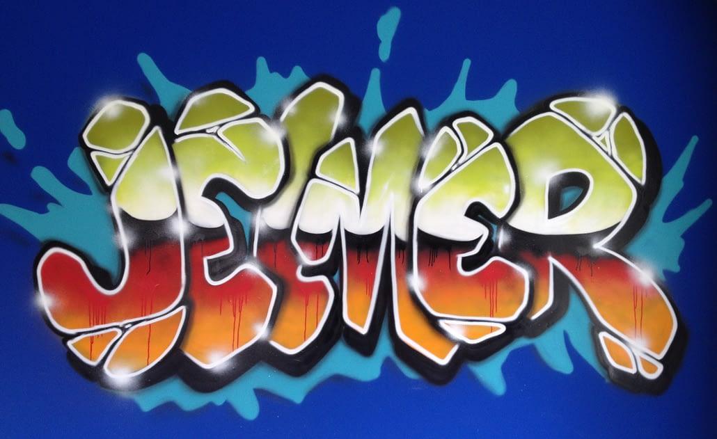 Jelmer Haarlem kinderkamer graffiti
