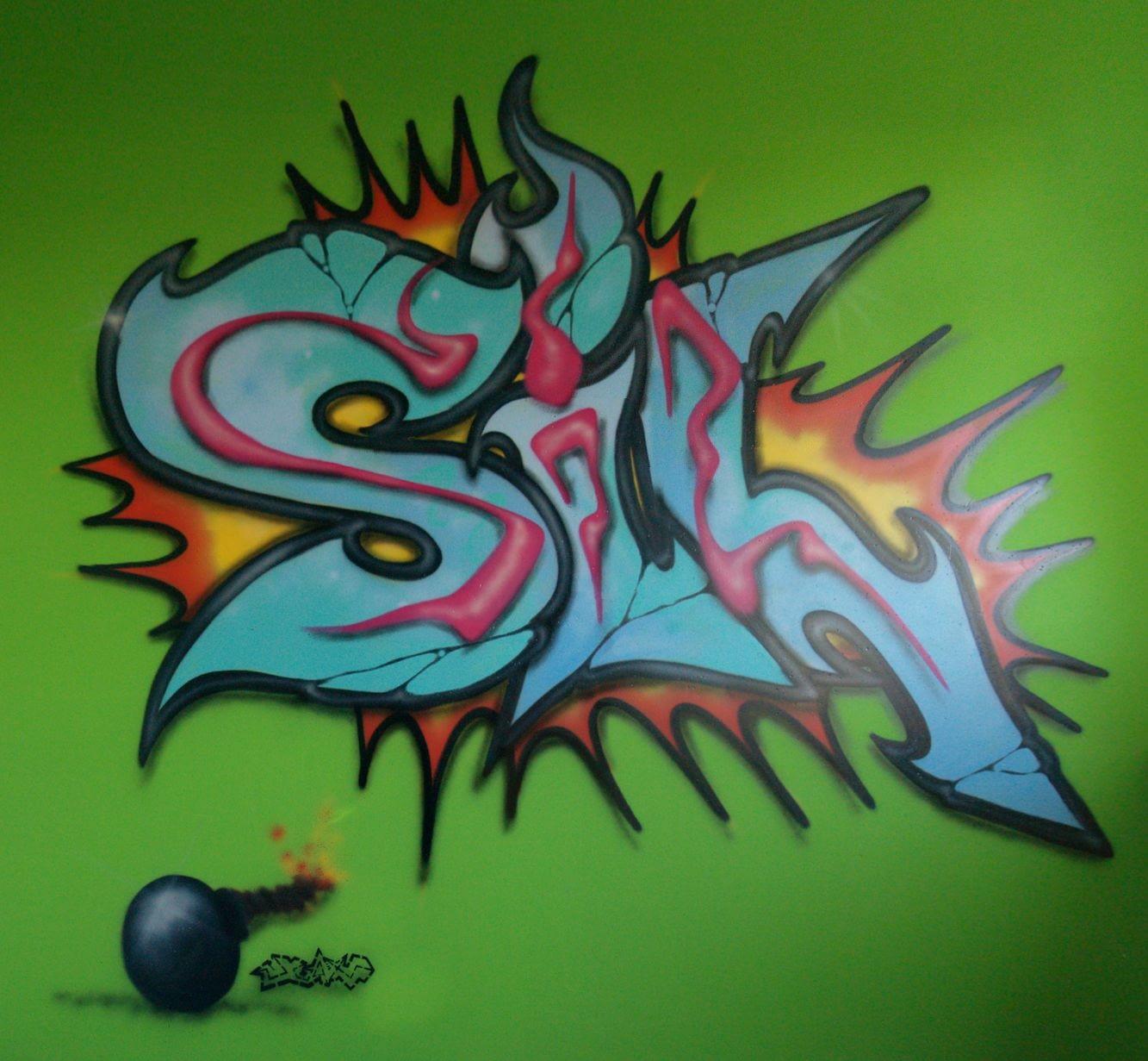 Sil kinderkamer graffiti Deventer