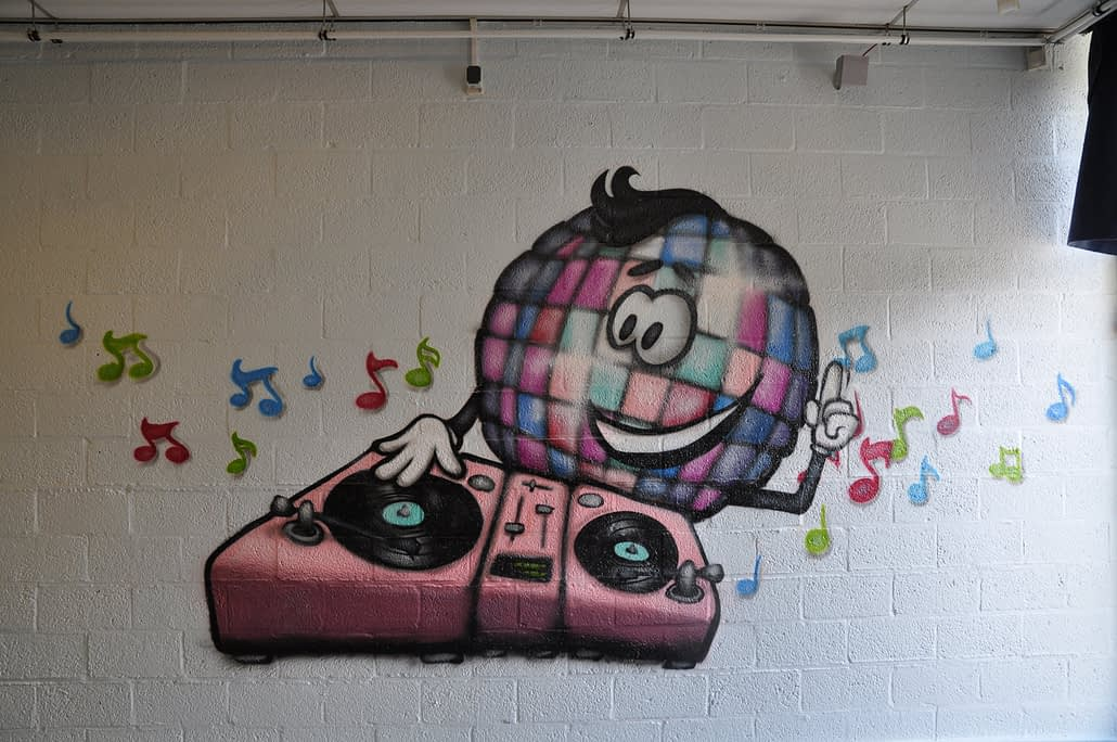 Disco DJ cartoon